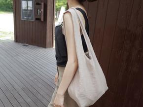 linen pocket bag : beige