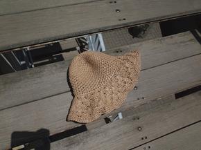 shell straw hat