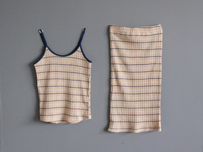 stripe two-piece set