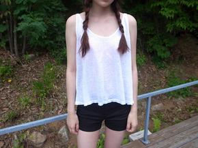 flare sleeveless top