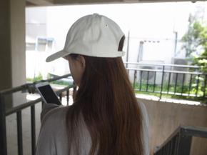 simple cap : white