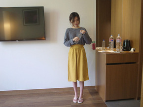 yellow band skirt  입고지연 7/21~22 순차발송