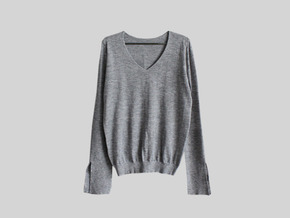 simple slit knit top : gray