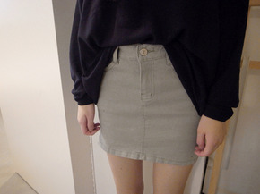 mini skirt pants2 : mint