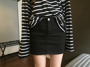 mini skirt patns : black