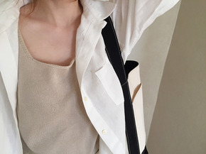 linen shirts and jacket : ivory