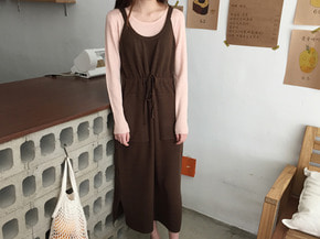 knit long ops : brown