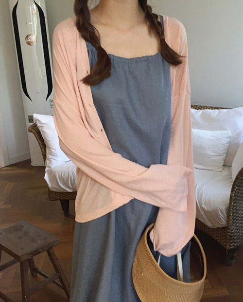 clean pink cardigan and tee
