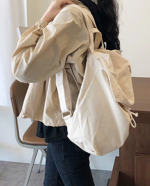 cotton back pack : ivory