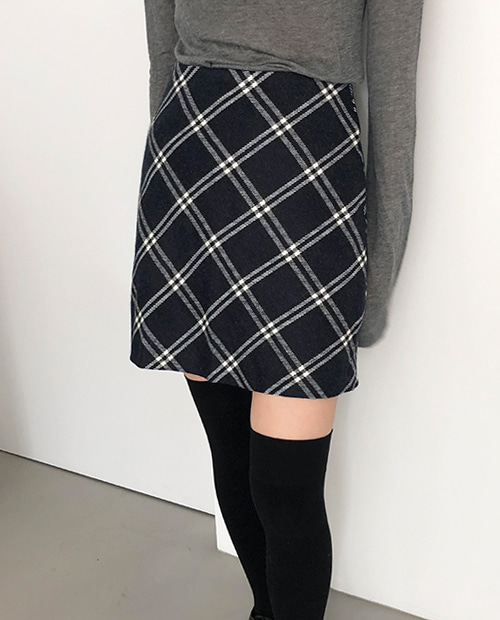 about check mini skirt / 2colors