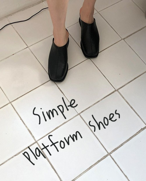 simple platform shoes