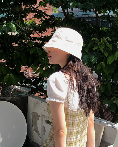 cosy bucket hat : ivory