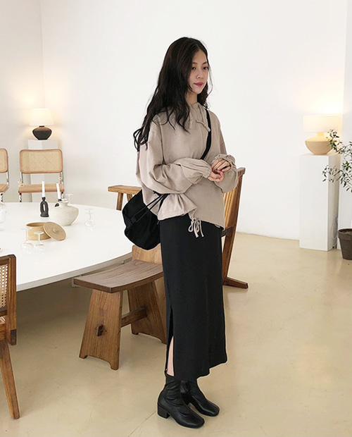 simple long skirt 당일발송